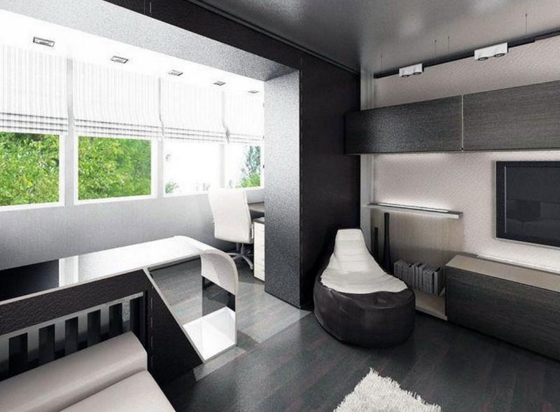 Балкон гостиная дизайн